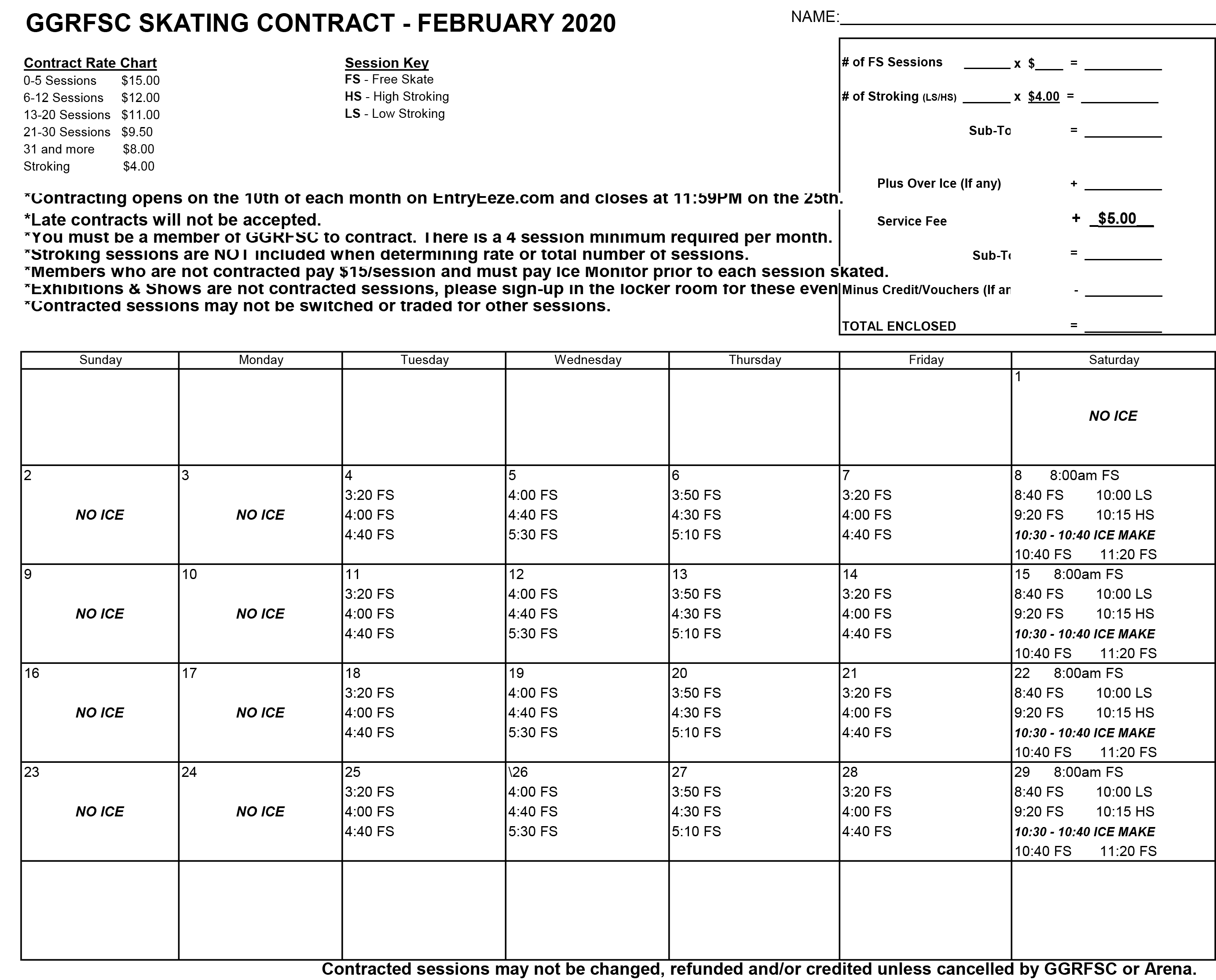GGRFSC 2020 02 February CONTRACT